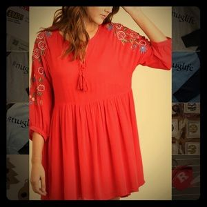 Umgee Embroidered Tunic